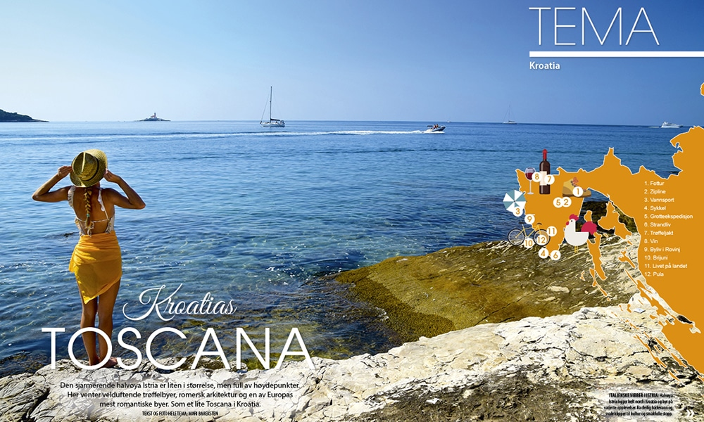 Magazine Reiselyst feature of Istria, Croatia