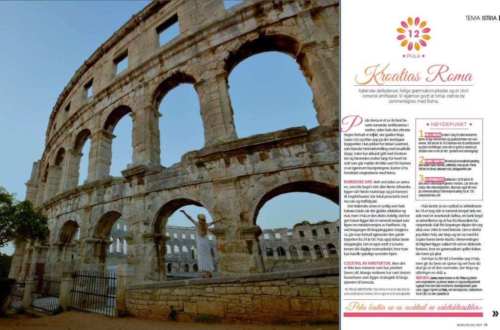 magasinet reiselyst pula food tour