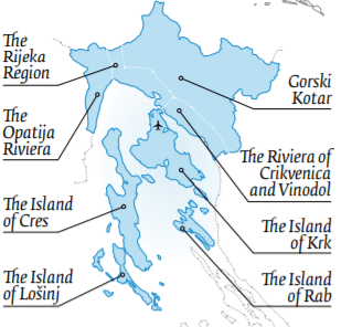 kvarner croatia map